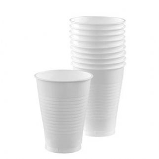 Frosty White Plastic Cups (10)